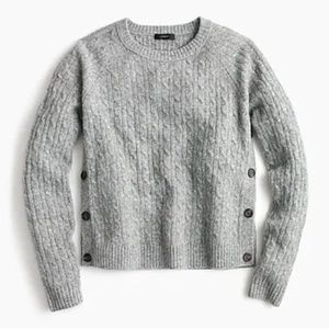 J.Crew Cable-knit sweater with buttons-Size XSmall